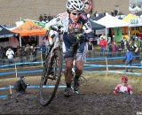 Kathy Sherwin was a surprise in fourth. 2010 Cyclocross National Championships, Women's Race. © Cyclocross Magazine