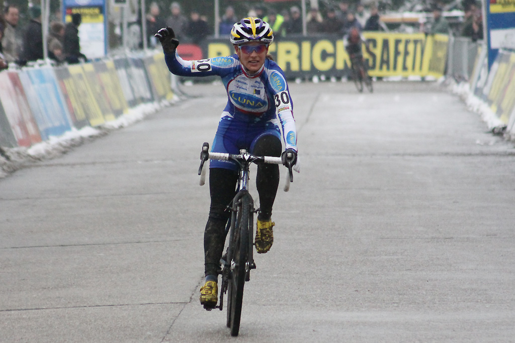Katerina Nash was happy with her third place ©Bart Hazen