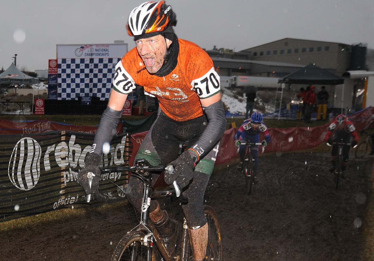 Masters giving full gas through the mud - and snow © Steve Anderson