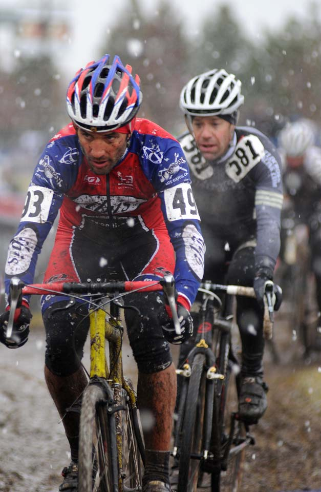 Snow greeted some of the races earlier in the week © Steve Anderson