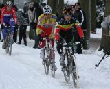 Sven Nys leads Sven Vanthourenhout and Lars Boom.