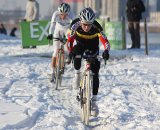 Sanne Cant leads Marianne Vos.