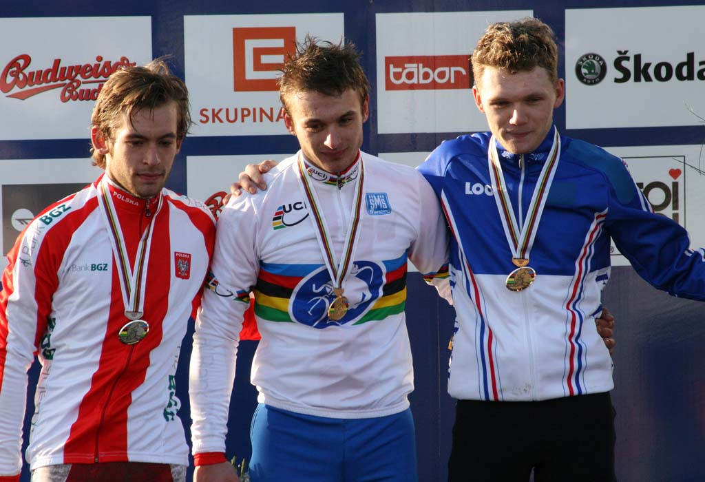The U23 podium in Tabor ? Bart Hazen