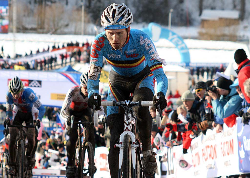 Jim Aernouts had a disappointing day in 26th. 2010 U23 Cyclocross World Championships. ? Bart Hazen