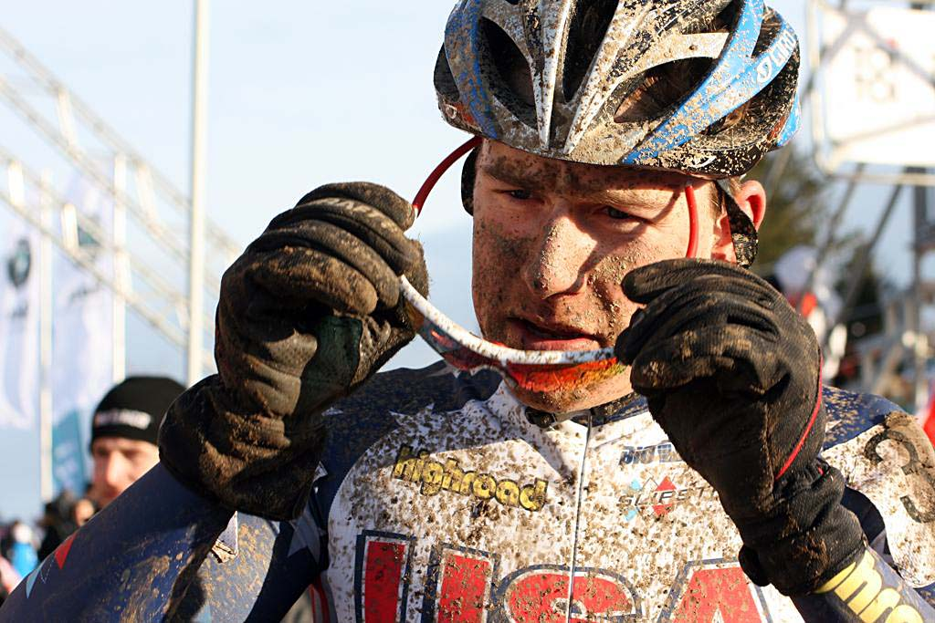 Hackworthy was the rare racer to finish in the same spot as his bib number - 34th. 2010 U23 Cyclocross World Championships. ? Bart Hazen
