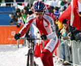 Pawel Szczepaniak took to the front early and escaped late. 2010 U23 Cyclocross World Championships. ? Bart Hazen