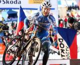 Italy's Elia Silvestri poses for the camera. 2010 U23 Cyclocross World Championships. ? Bart Hazen