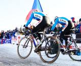 Stybar and Bina hit the font to attempt Czech domination. ? Joe Sales