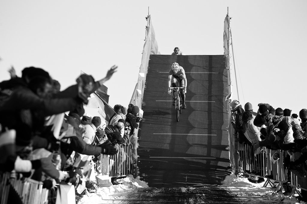 The course for the 2010 Cyclocross World Championships in Tabor, Czech Republic offered plenty of challenges including this overpass. ? Joe Sales