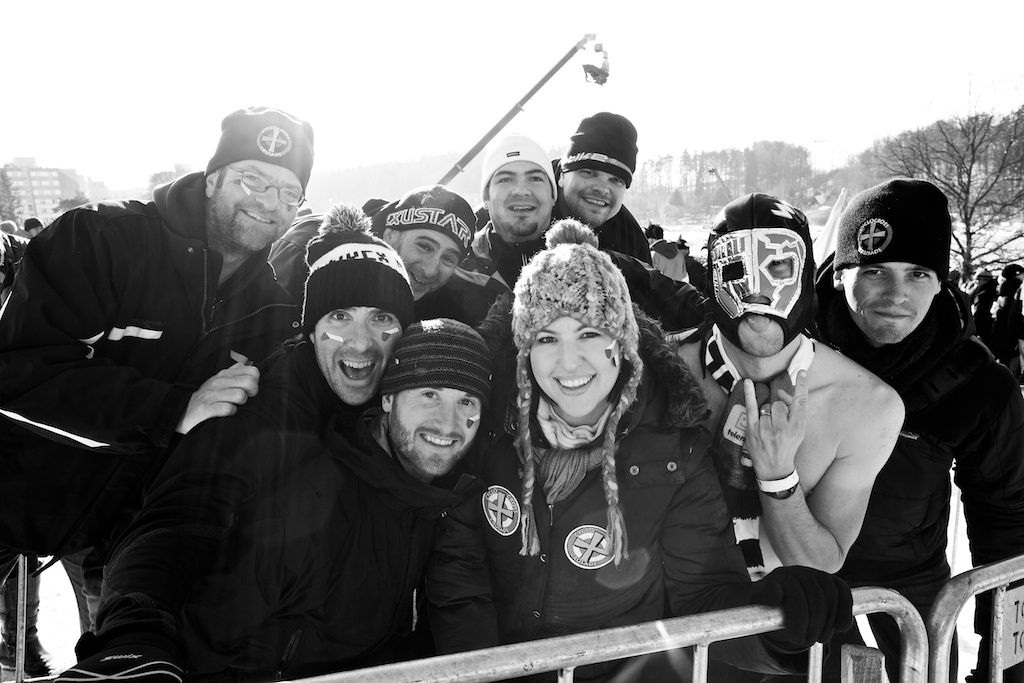 Fans from all around the world came out to support their favorite riders in the 2010 Cyclocross World Championships in Tabor, Czech Republic.  ? Joe Sales