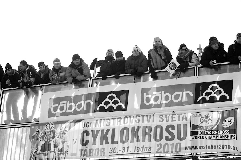 No space was left unfilled with fans hoping to see the finish of the 2010 Cyclocross World Championships in Tabor, Czech Republic.  ? Joe Sales