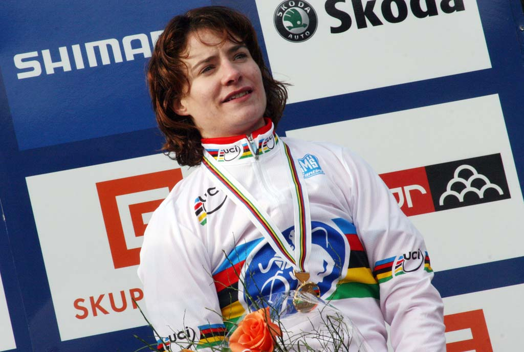 Marianne Vos on the top step once again. ? Bart Hazen