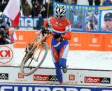 Vos goes cleanly through the barriers. ? Bart Hazen
