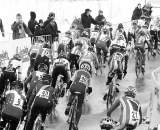 The field corners on a pavement stretch of the World Championship course. ? Joe Sales