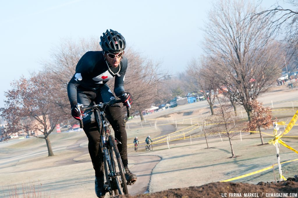 Jonathan Card of Ohio, second place finisher in the Masters 40-plus. ©Liz Farina Markel
