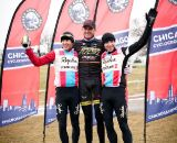 Men's elite podium: Christopher Jones, Ryan Trebon, Jeremy Powers. ©Liz Farina Markel