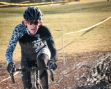 John Gatto (Twin Six) battles mud in the Masters 30-plus; Gatto finished third. ©Liz Farina Markel