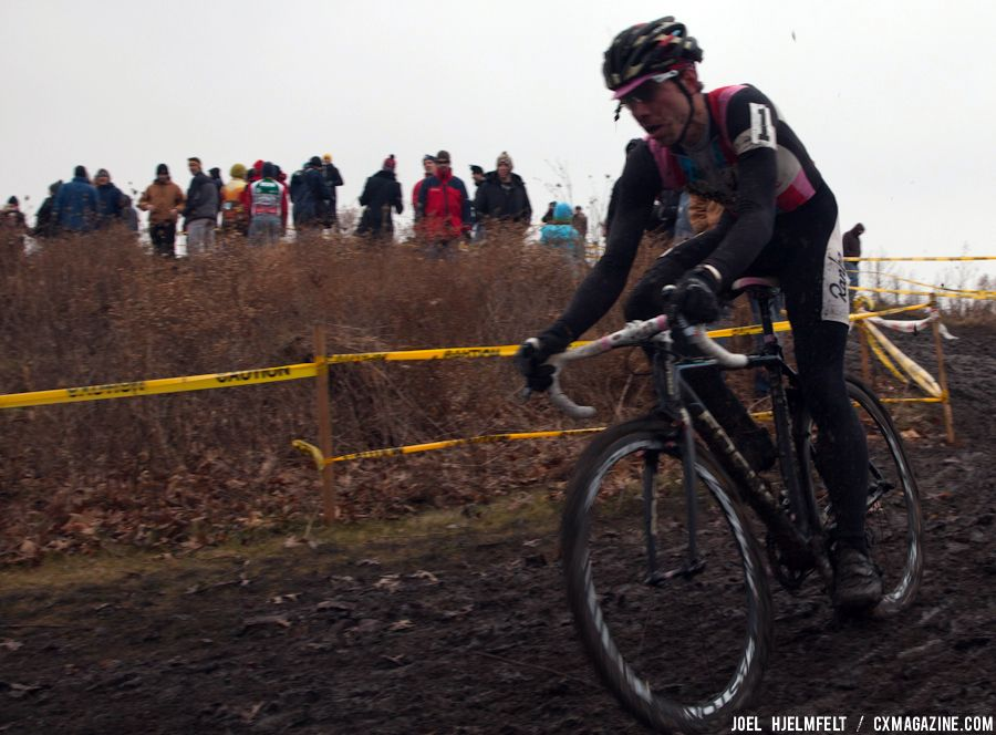 Jeremy Powers descends the front side of