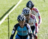 It's 1-2-3 in a row as UCI Junior's race riders Andrew Dillman, #1 (Bob's Red Mill), Curtis White, #2 and Godby Zane, #3 (both Clff Bar Junior Development Team) cruise the turf. © Greg Sailor - VeloArts.com
