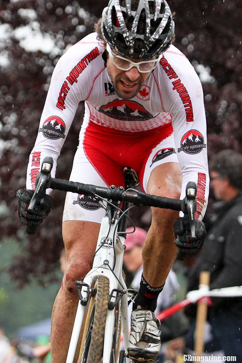 Chris Sheppard finished third after crashing and getting a double flat. ©Pat Malach