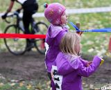 Future cyclocross stars cheer riders in the A race. ©Pat Malach