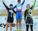 The women's podium (L to R): Van Gilder, Nash and Annis © Natalia Boltukhova | Pedal Power Photography | 2011