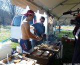 Jeremy Durrin served up sausages to earn money for a Belgium trip. © Cyclocross Magazine