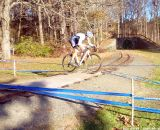 The leap over the railroad tracks. © Cyclocross Magazine
