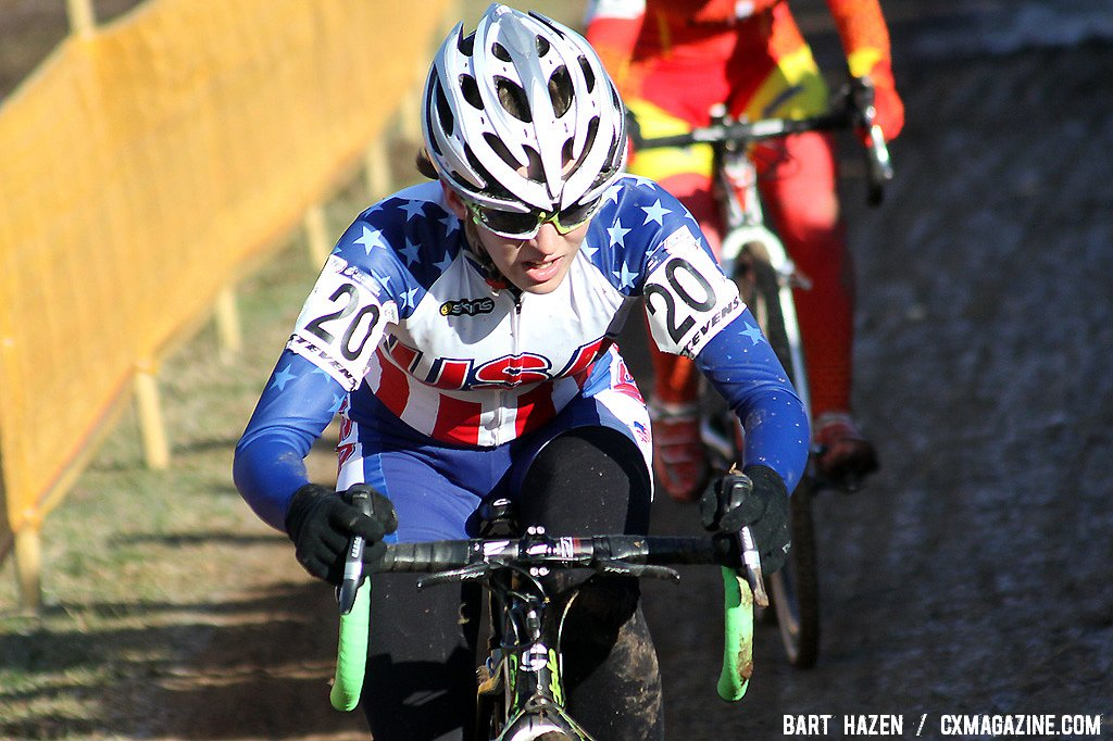 19 year-old Kaitlin Antonneau finished 30th in her first World Championship race.