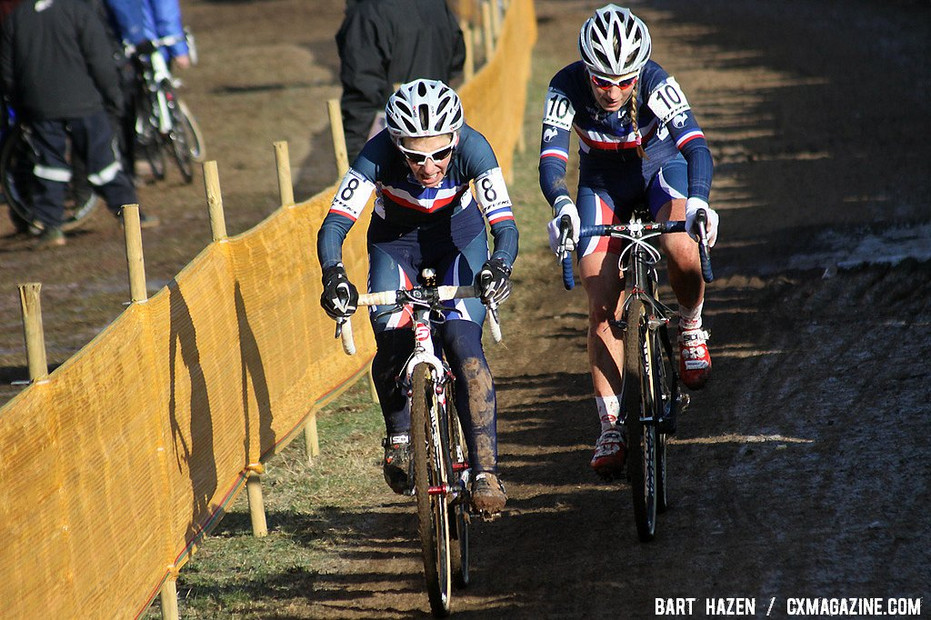 French Christel Ferrier-Bruneau and Pauline Ferrand Prevot worked together for much of the race