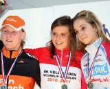 The podium of the women's youth: Lotte Eikelenboom - Evy Kuijpers - Chanella Stougje ©Bart Hazen