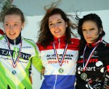 Podium of the Junior Women: Sabrina Stultiens, Annelies Kalvenhaar and Helena van Leijen ©Bart Hazen