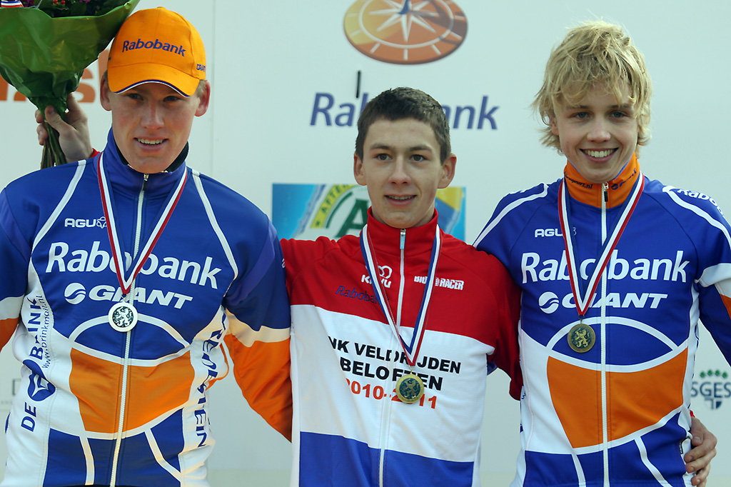 The U23 Podium: Lars van der Haar - Mike Teunissen - Gert-Jan Bosman. © Bart Hazen