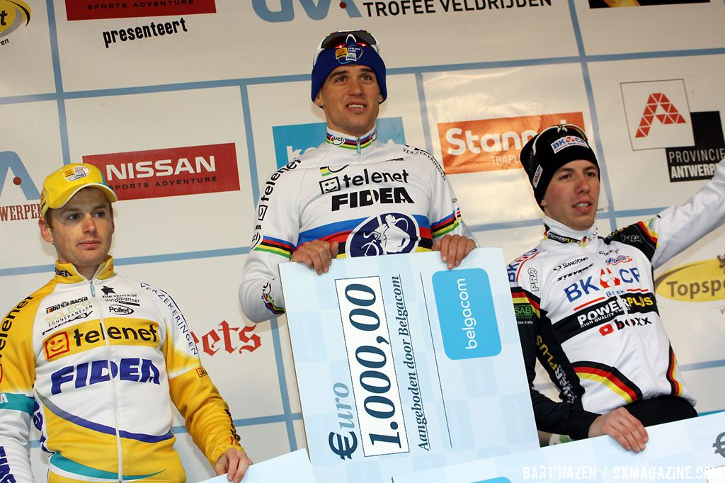 Zdenek Stybar won the Belgacom fastest lap prize. Kevin Pauwels and Philipp Walsleben second and third best lap.