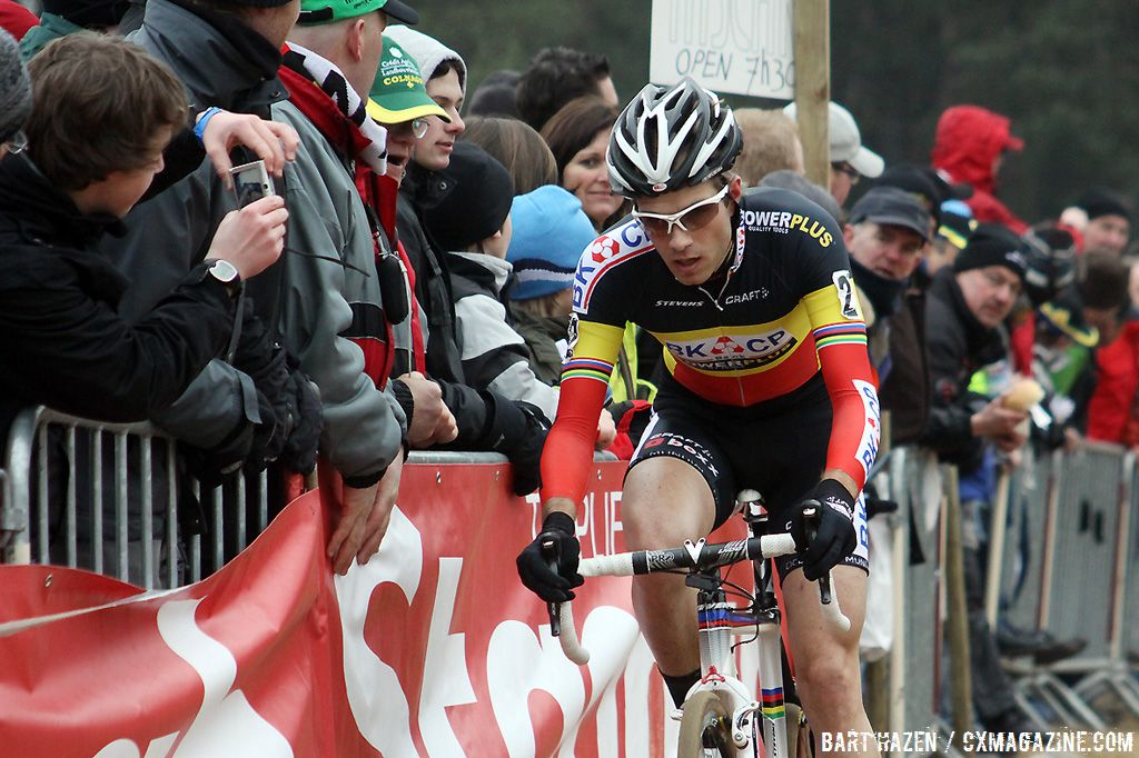 Belgian champion Niels Albert on his way to wrap up the season with a win.