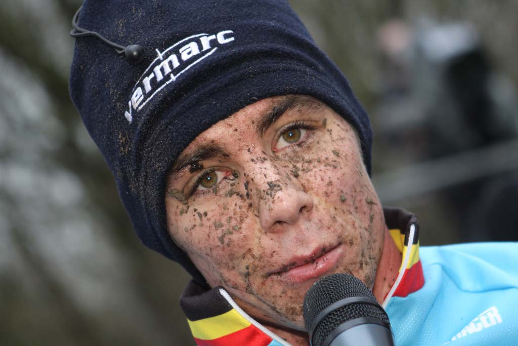 Vincent Baestaens, disappointed after losing the overall world cup to Lars van der Haar. © Bart Hazen