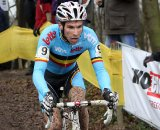 Vinnie Braet races through Hoogerheide. © Bart Hazen