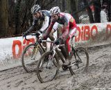 David van der Poel and Sven Beelen battle for second and third © Bart Hazen