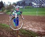 Smiling through the mud. © Cyclocross Magazine
