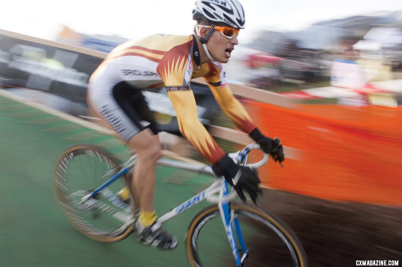Racers enjoyed Japan\'s first flyover. 2011 Nobeyama, Japan UCI Cyclocross Race. © Cyclocross Magazine