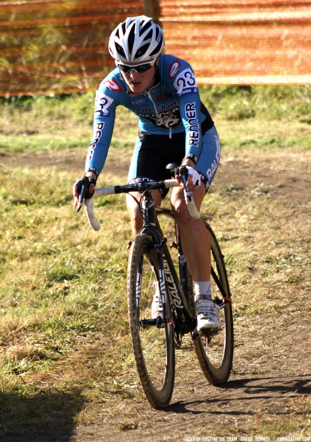 Gabby Day in the turn. © Renner Custom CX Team, Gregg Germer