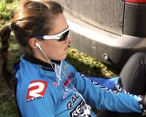 Gabby Day and her pre-race warmup.  © Renner Custom CX Team, Gregg Germer