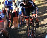 Sanne van Passen on the hill. © Renner Custom CX Team, Gregg Germer