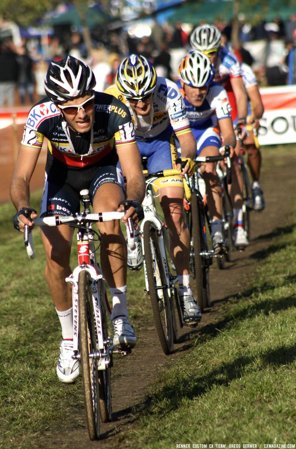 Niels Albert leads the chase. © Renner Custom CX Team, Gregg Germer