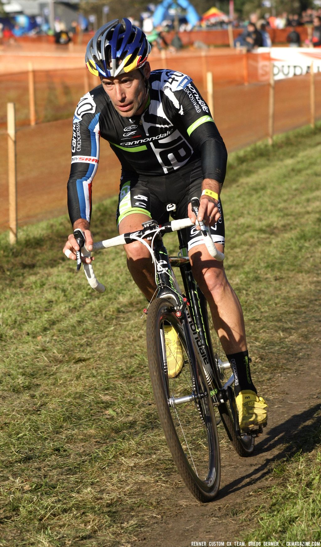 Johnson chases. © Renner Custom CX Team, Gregg Germer