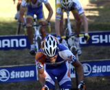 Men's Chase Group bunny hops the barriers. © Renner Custom CX Team, Gregg Germer