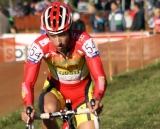 Ian Field nears the finish. © Renner Custom CX Team, Gregg Germer