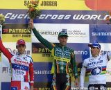 Men's Podium (l to r): Pauwels, Nys, Stybar. © Renner Custom CX Team, Gregg Germer