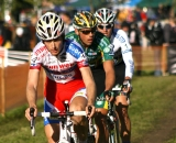 The three leaders (Pauwels, Nys, Stybar) near the finish. © Renner Custom CX Team, Gregg Germer