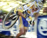 Bart Wellens on the stairs. © Renner Custom CX Team, Gregg Germer